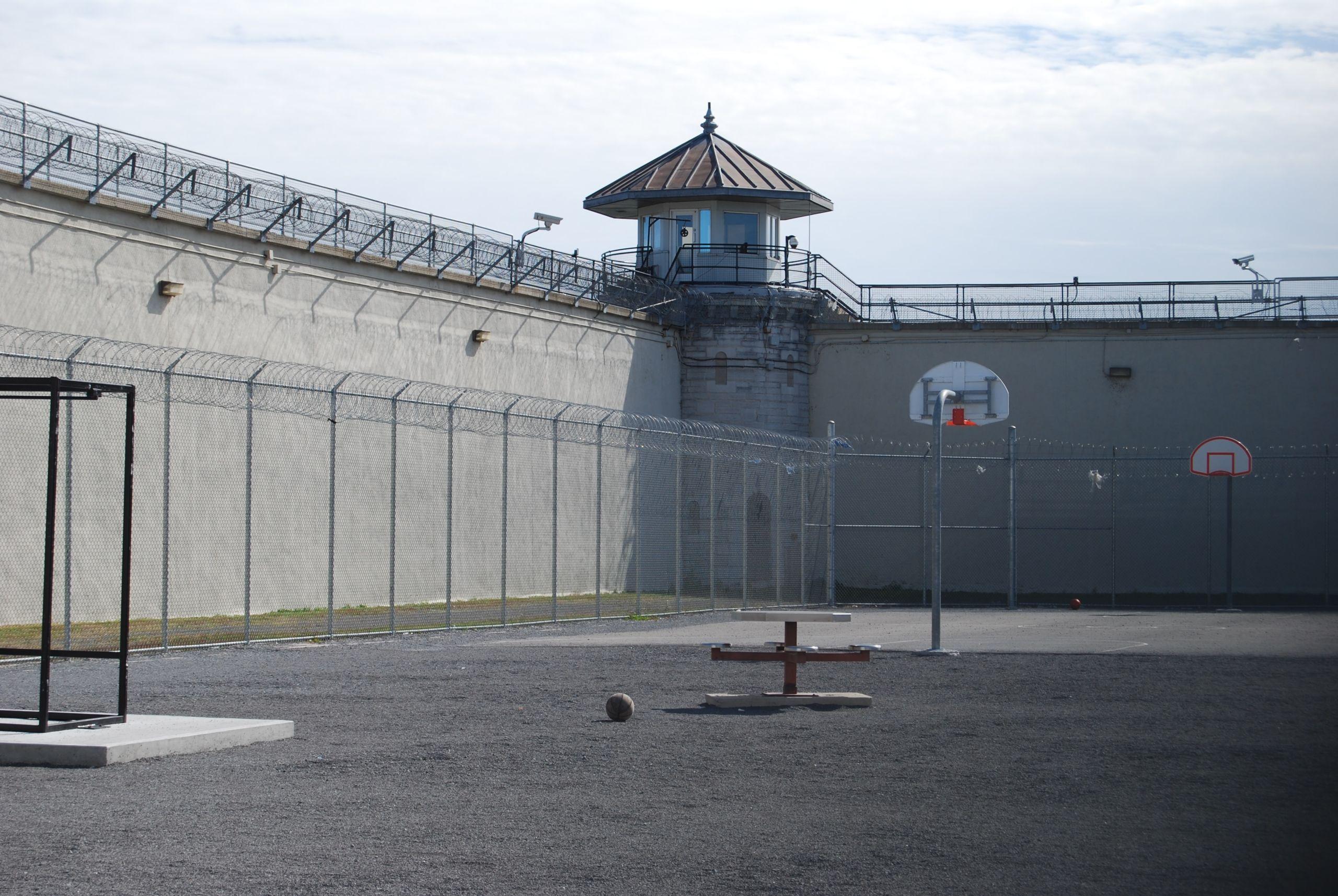 empty prison yard